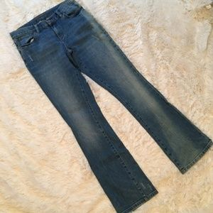 Lauren Jeans Company Distressed Sandblasted Denim